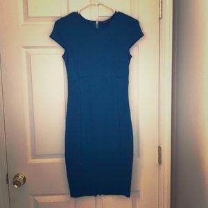 Turquoise midi dress